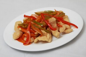 Deef Fried Fish Fillet with Sweet & Sour Sauce