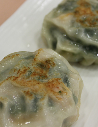 Pan Fried Prawn Chives Dumplings
