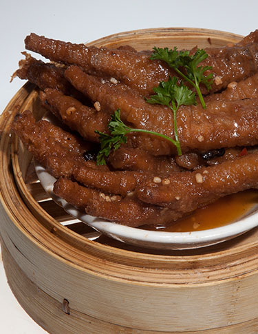 Steamed Chicken Feet in Szechuan Sauce
